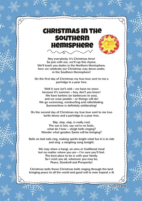 christmas in the southern hemisphere kids video song