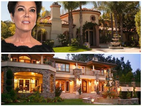 kris jenner real house front and one used on kuwtk