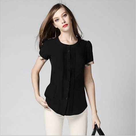 Blouse Ahsanty Black Jfashion high end summer fashion blouse black bodycon shirts office shirt 2015 style