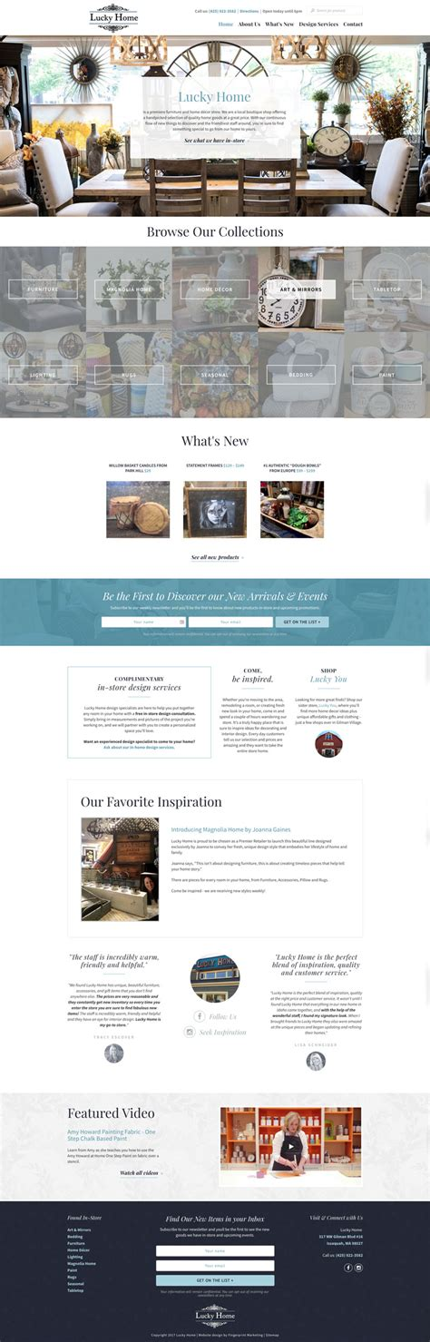 fingerprint marketing website design lucky home