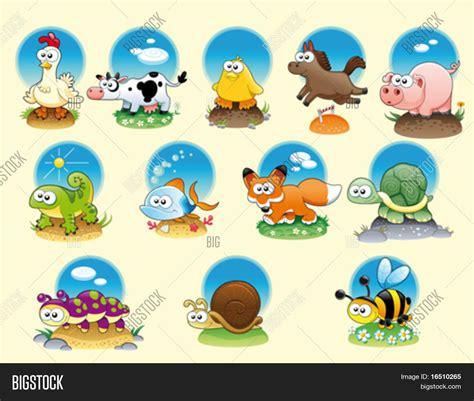 imagenes de animales terrestres cartoon animals pets background vector photo bigstock