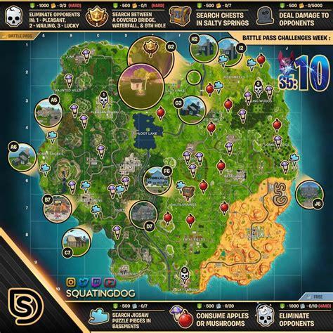 fortnite season 5 week 10 challenges sheet
