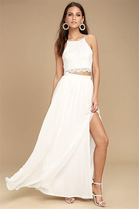 Dress Set white dress lace dress two dress maxi dress