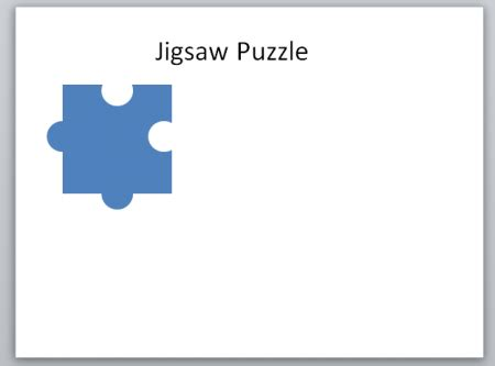 Create A Jigsaw Puzzle Piece In Powerpoint Using Shapes Jigsaw Template For Powerpoint