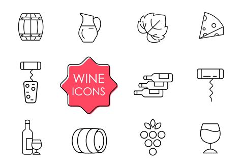 wine vector free wine icons free vector stock graphics