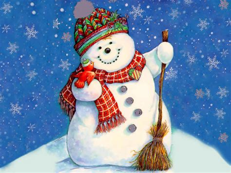 snowmen christmas wallpaper 2735124 fanpop