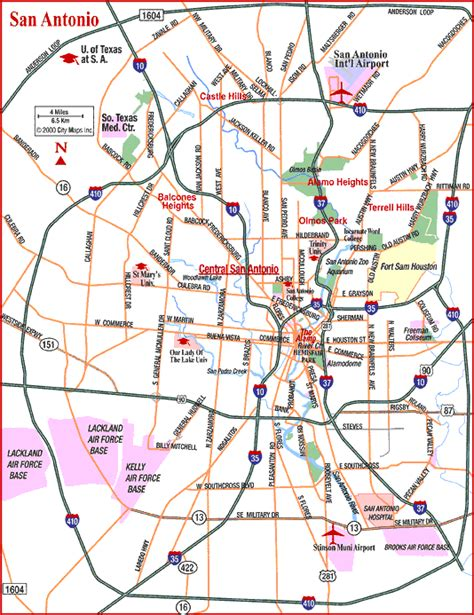 san antonio map san antonio map and surrounding areas