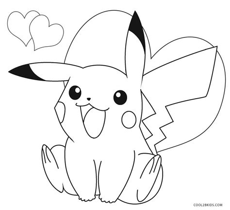 coloring page of pikachu printable pikachu coloring pages for kids cool2bkids