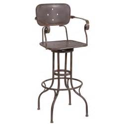 Industrial Metal Bar Stool Workshop Tarnished Industrial Metal Bar Stool