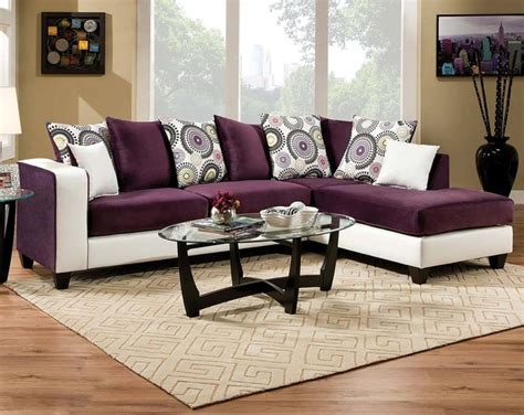 implosion purple 2 sectional sofa living room by
