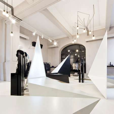 Wedding Shop Concept by Pointy Retail Interiors Entrance By Square One