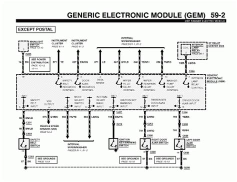 2002 ford ranger electrical wiring diagram 2002 ford