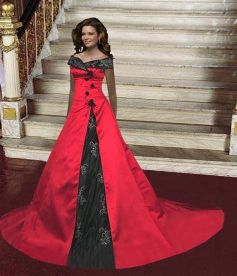 Black and Red Wedding Dresses Design   Wedding Dress