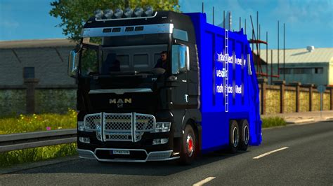 mod game ets 1 man tgx garbage truck tested on 1 18 ets 2 euro truck