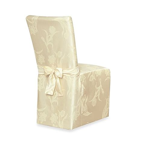 Damask Dining Room Chair Covers Blossoms Damask Dining Room Chair Cover Bedbathandbeyond