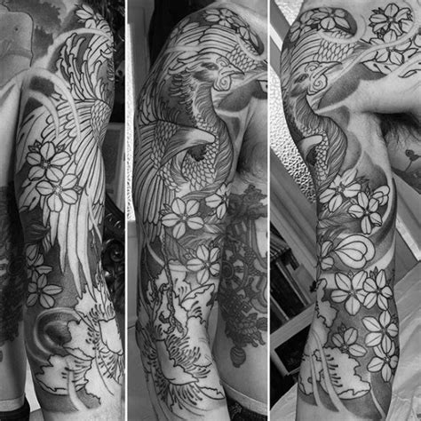 black and grey japanese tattoo designs 50 japanese phoenix tattoo designs for men mythical ink