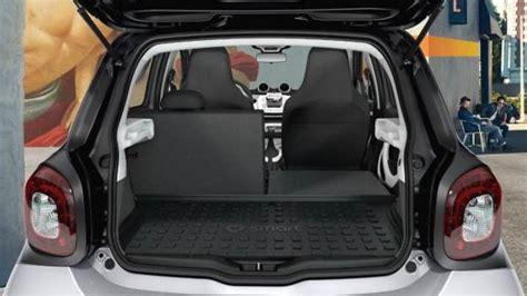 Smart Interior smart forfour 2015 abmessungen kofferraum und innenraum