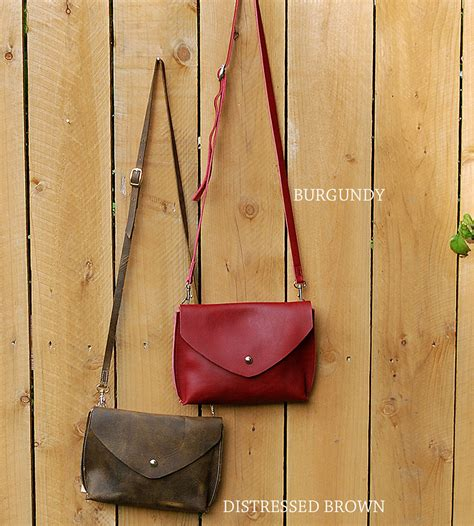 Handmade Cross Bags - small leather crossbody bag features leather goods