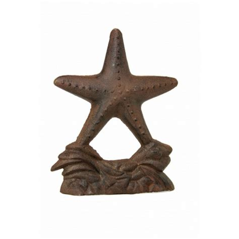 decorative door stopper buy rustic iron starfish door stop 9 inch wholesale beach house