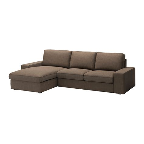 Loveseat With Chaise Lounge Kivik Loveseat And Chaise Lounge Isunda Brown Ikea