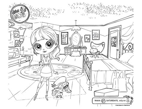 lps blythe coloring pages squid army littlest pet shop coloring pages