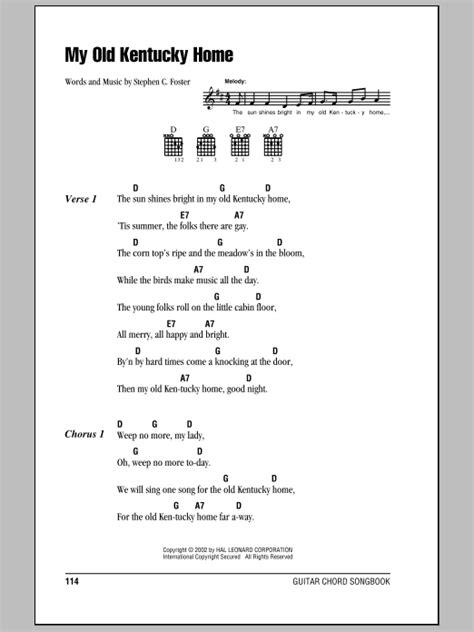 My Old Kentucky Home Sheet Music | Stephen Foster | Lyrics