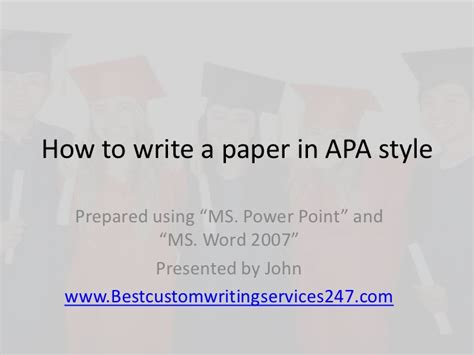 how to write a paper apa style sle how to write a paper apa style