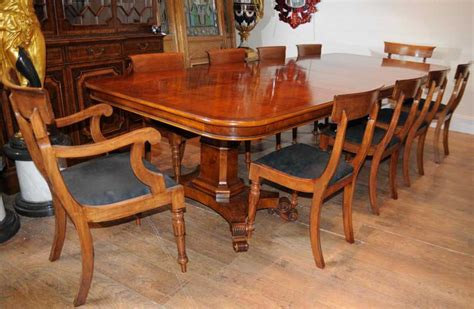 walnut dining table and chairs walnut regency dining table chairs set suite