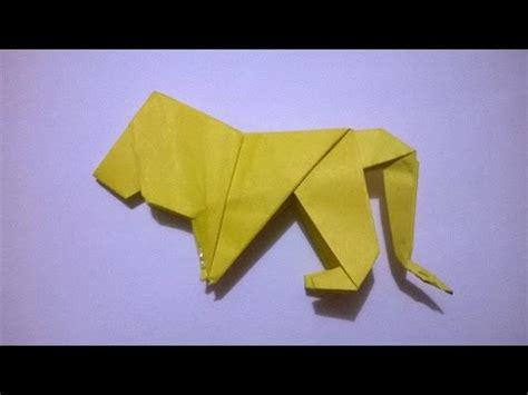 odigami de leon en 3d leon de papel origami paper lion youtube
