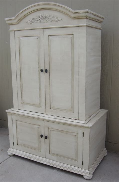 shabby chic armoire the backyard boutique by five to nine furnishings creamy