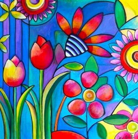 cuadros modernos pinturas y dibujos serie de flores