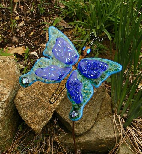 projects butterfly garden stake 7 best images about fused glass garden stakes on pinterest