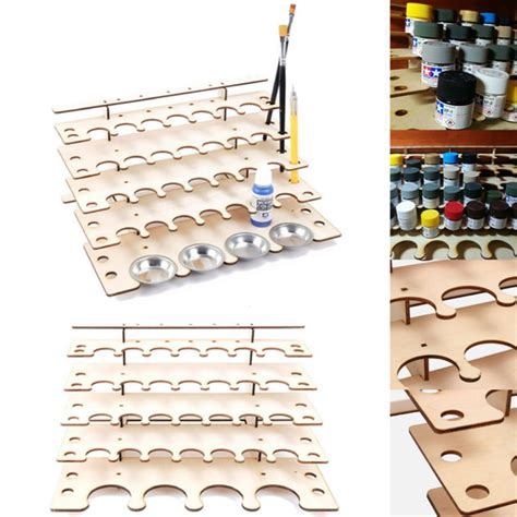 acrylic paint keeper 32 pots wooden acrylic paint stand bottle storage rack
