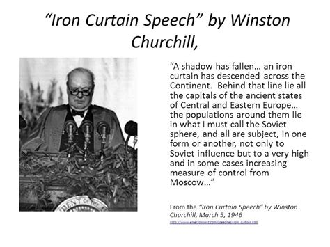 winston churchill iron curtain speech meaning family security matters
