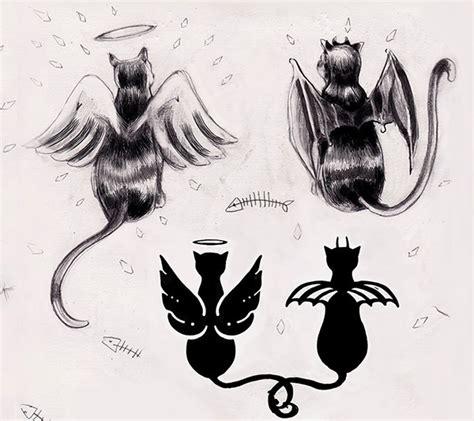 cat angel tattoos www pixshark com images galleries