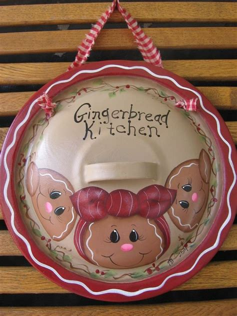 hp gingerbread lid kitchen decor