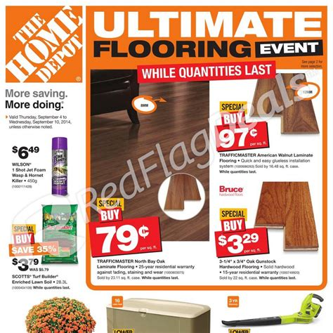 home depot weekly flyer weekly flyer ultimate flooring event sep 4 10 redflagdeals com