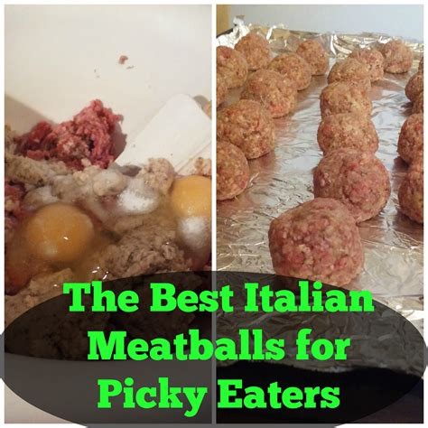 best food for picky eaters the best italian meatballs for picky eaters