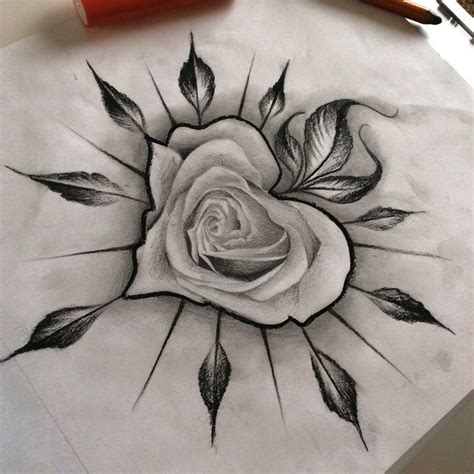 best 20 skull roses tattoo ideas on pinterest skull drawn rose awesome pencil and in color drawn rose awesome