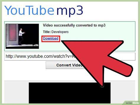 membuat youtube ke mp3 3 cara untuk mengonversi video youtube ke mp3 wikihow