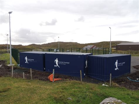 portable sports changing rooms carloway f c portable changing rooms award the scottish football partnership