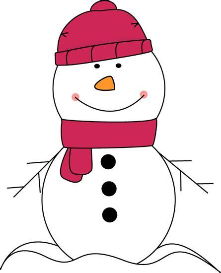 cute snowman clip art snowman wearing pink scarf and hat clip art snowman