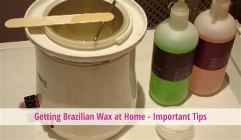 getting wax at home important tips