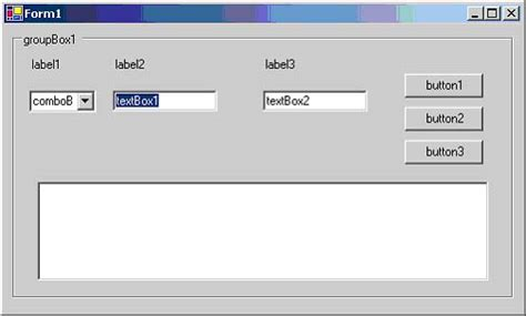 windows application layout design creating your first c windows application codeproject