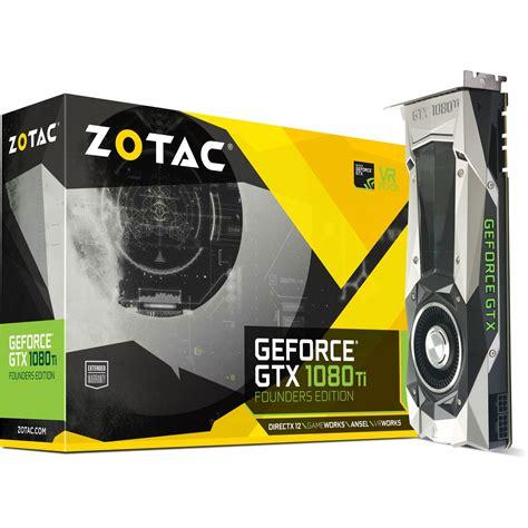 Vga Zotac Geforce Gtx 1080 Edition 11gb zotac geforce gtx 1080 ti founders edition aktiv pcie