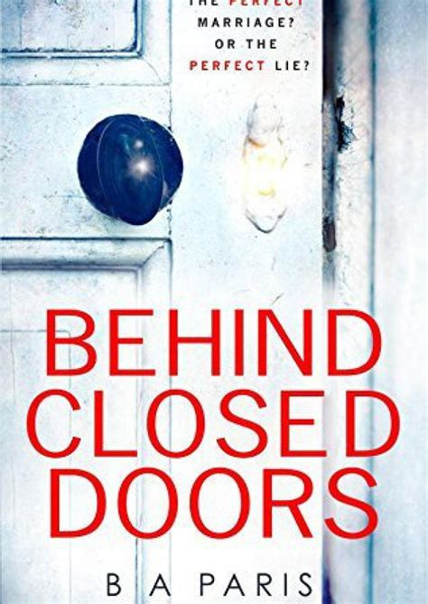 Closed Doors Book recommended book of the week closed doors b a