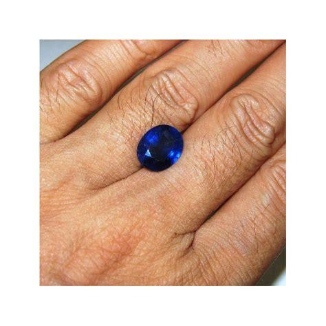 Batu Royal Safir batu permata safir madagaskar oval 4 65 carat warna royal blue