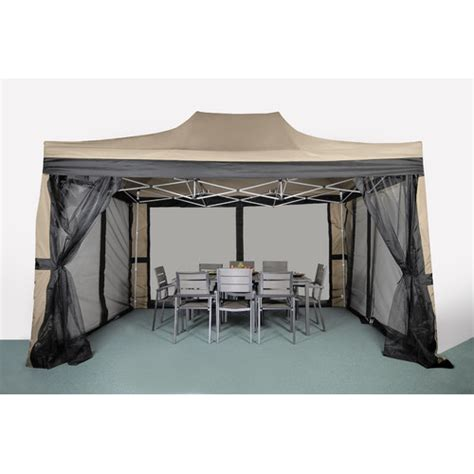 10 By 15 Gazebo Lb International Pop Up 15 Ft W X 10 Ft D Steel Gazebo