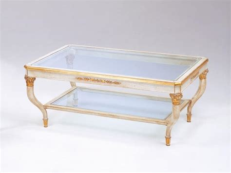 Luxury Glass Coffee Tables Luxury Coffee Table Carved With 2 Glass Shelves Idfdesign