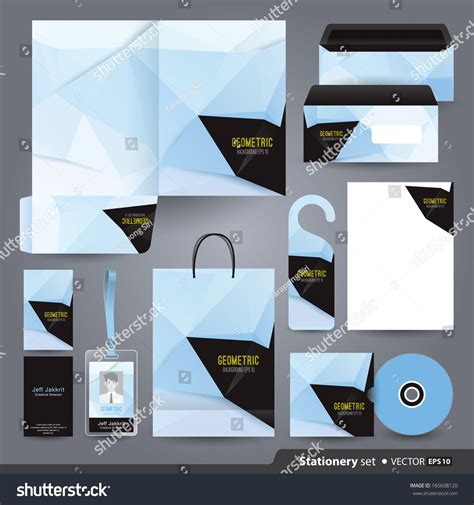 stationery set design stationery template corporate stock